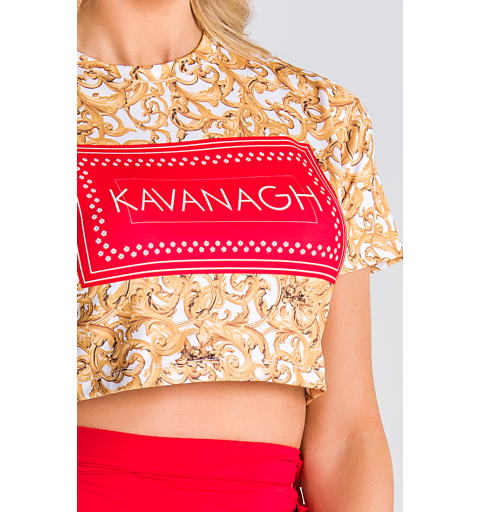 Baroque Excess Cropped Tee...