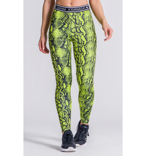 Green Neon Snake Leggings