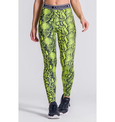 Green Neon Snake Leggings