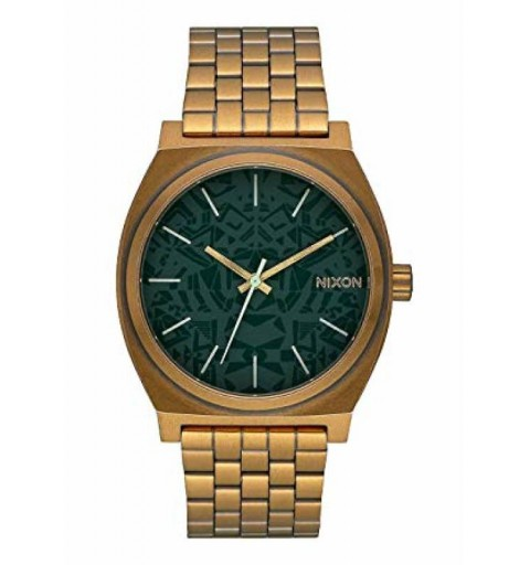 TIME TELLER PALM GREEN/BRASS