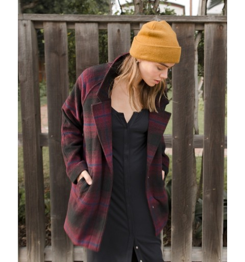 CAMDEN OVERSIZED PLAID JACKET