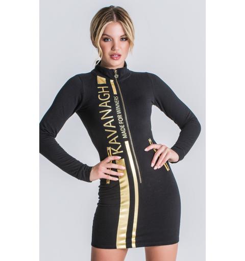 Black Champion Racer Zip Dress