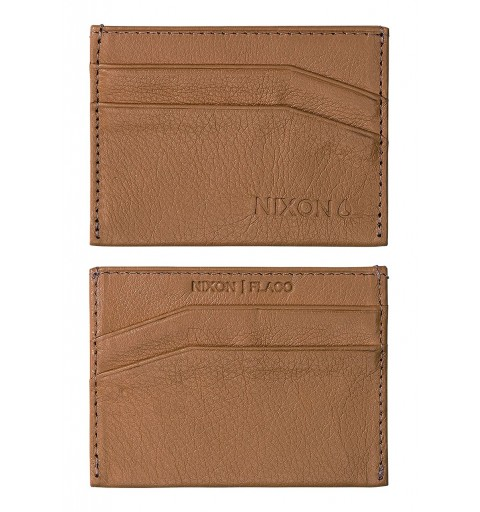 Flaco Leather Card Wallet Tan